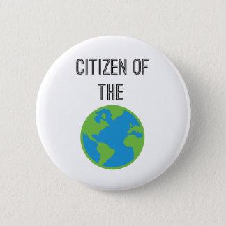 Medborgaren av världen knäppas standard knapp rund 5.7 cm