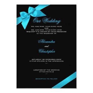 Meddelande 2 för inbjudan för turkosbandbröllop