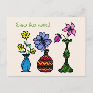 Three Vases Art Moving Woman Address Announcement