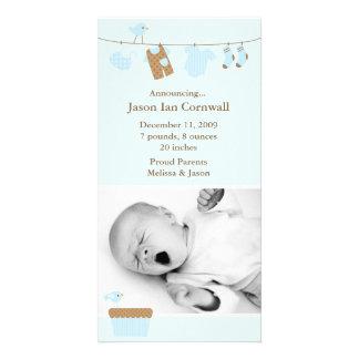 Meddelande för baby med hjärtfeltvättfödelse fotokort