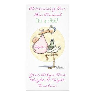 Meddelande för flicka fotokort