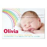 Meddelande för födelse för baby för 12,7 x 17,8 cm inbjudningskort