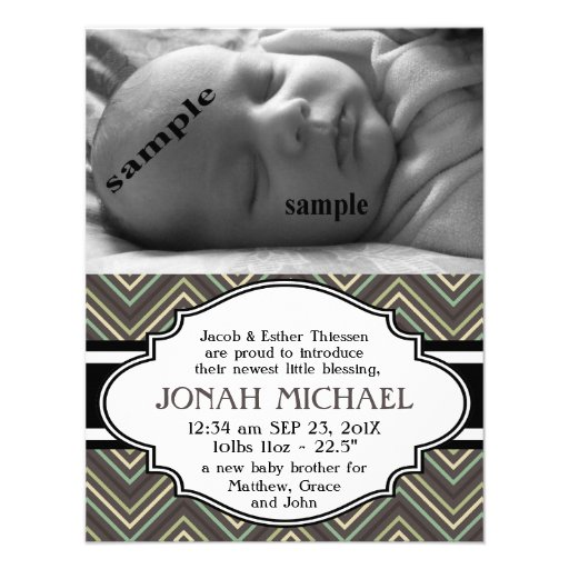 Meddelande för födelse för för sparrenyfödd bebisp tillkännagivande