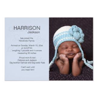 Meddelande för födelse för Lil ängelfoto 12,7 X 17,8 Cm Inbjudningskort