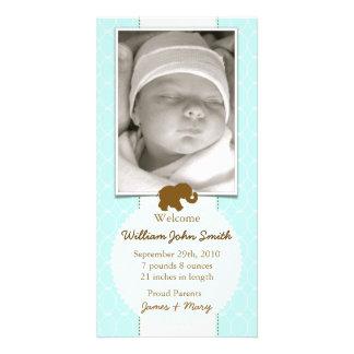 Meddelande för för babyelefantchoklad & baby med h fotokort