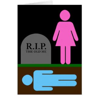 meddelande för genderåtertilldelningskirurgi hälsningskort