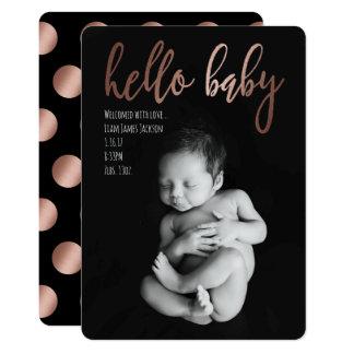 Meddelande för hejbabyfödelse 12,7 x 17,8 cm inbjudningskort