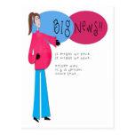 Meddelande för höftmammagravid vykort