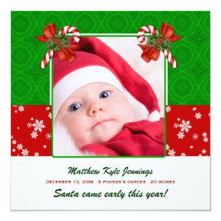 Meddelande för julfotofödelse fyrkantigt 13,3 cm inbjudningskort