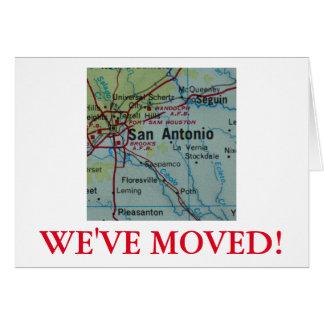 Meddelande för San Antonio vi har flyttatadress Hälsningskort