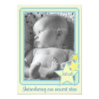Meddelande för stjärnafotobaby 12,7 x 17,8 cm inbjudningskort