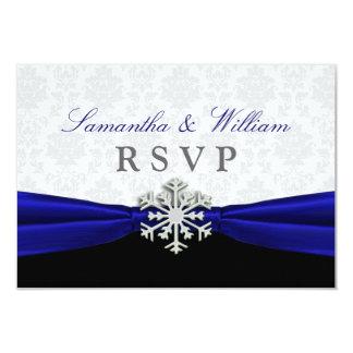 Meddelande för strumpebandsordenvinterbröllop OSA 8,9 X 12,7 Cm Inbjudningskort