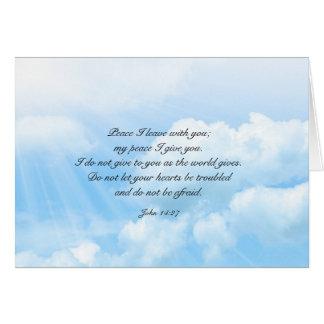 Meddelande för sympati för himmelblå himmel OBS kort
