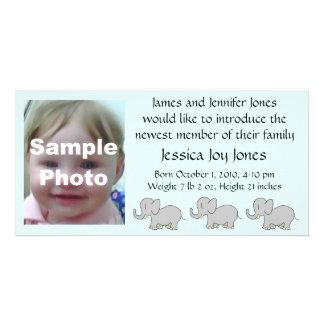 Meddelande för tecknadelefantbaby fotokort
