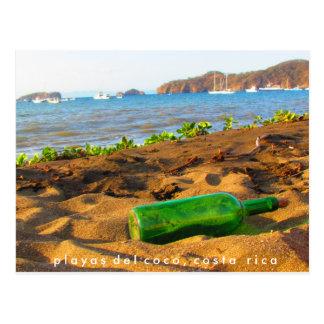 Meddelande i en flaska Playas del Coco, Costa Rica Vykort