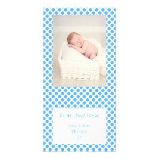 Meddelanden för blåttpolka dotsbaby fotokort