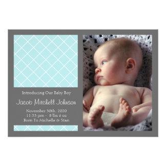 Meddelanden för diamantbakgrundsnyfödd bebis (blåt