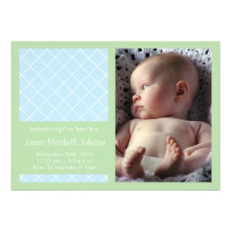 Meddelanden för diamantbakgrundsnyfödd bebis (mint