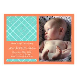 Meddelanden för diamantbakgrundsnyfödd bebis (oran