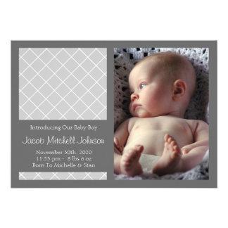 Meddelanden för diamantbakgrundsnyfödd bebis (silv