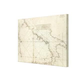 Medelhavs- hav 3 canvastryck