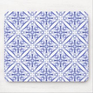 Medeltida blått belägger med tegel mus mattor