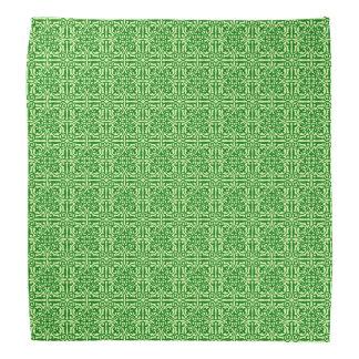 Medeltida damast Fleur-de-lis, mörk gräsgrönt Scarf