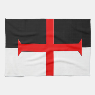 Medeltida flagga för riddareTemplar kor Kökshandduk