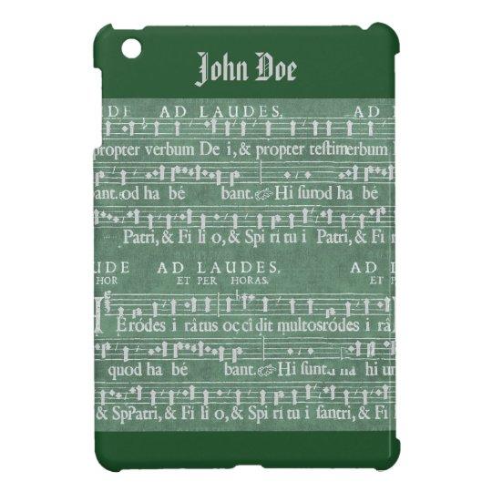 Medeltida fodral för kortkort för musikmanuskripti iPad mini mobil skydd