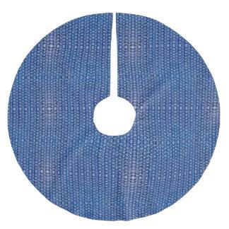 Medeltida för ringbrynja för koboltblåttmetall julgransmatta borstad polyester