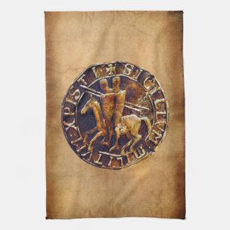 Medeltida försegla av riddarna Templar Kökshandduk