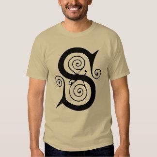 Medeltida gotisk antikvitetMonogram för brev S Tee Shirt