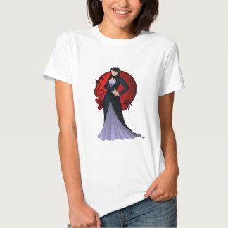 Medeltida gotisk drottningpinup tshirts