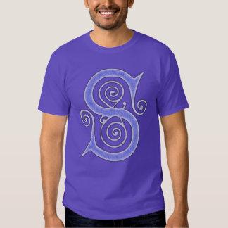 Medeltida gotiska Monogramlilor för brev S T-shirt