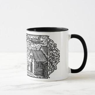 Medeltida kaffemugg - Olaus Magnus träsnitt, 1555