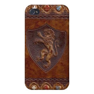 Medeltida läderbokomslag iPhone 4 cover
