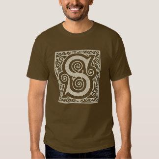 Medeltida renaissance för gotisk Monogram för brev T-shirt