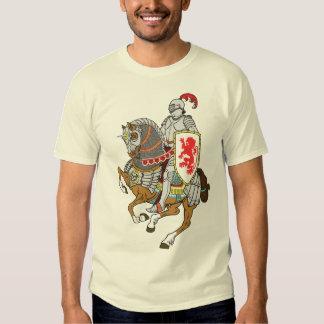 medeltida riddare på en häst tshirts
