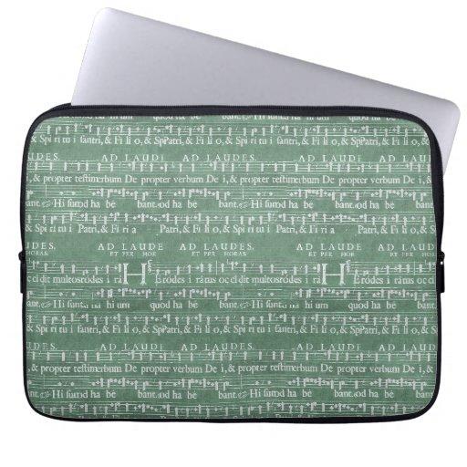 """Medeltida sleeve 13"""" för musikmanuskriptNeoprene, Laptopskydd Fodral"""