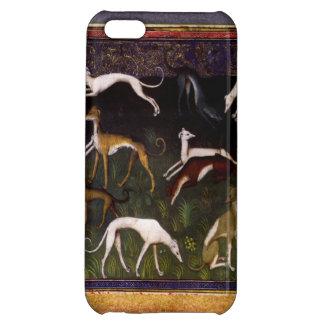 Medeltida vinthundar i den djupa skogen iPhone 5C mobil fodral