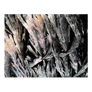 Medicin under ett mikroskop, Nystatinkristaller Vykort