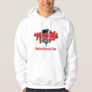 Medicinsk rekordkontorist för världsmästare sweatshirt med luva