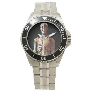 Medicinsk skelett- rostfri klocka