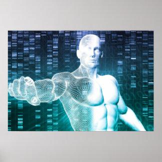 Medicinsk teknologi med forskareingenjören på DNA Poster