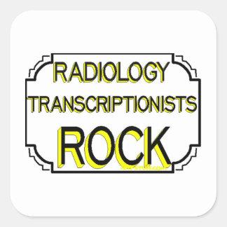 Medicinsk Transcriptionistssten för radiologi Fyrkantigt Klistermärke