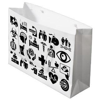 Medicinska symboler sätta en klocka på svartvit