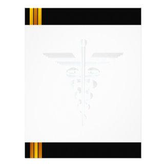 Medicinskt brev för watermark för symbolAsclepius Brevhuvud