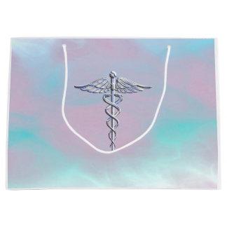 Medicinskt symbol för Caduceus på morpärladekor