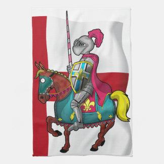 Medievilriddare och häst för kung arthur kökshandduk