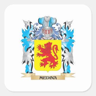 Medina vapensköld - familjvapensköld fyrkantigt klistermärke